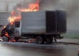 В Звениговском районе загорелся автомобиль